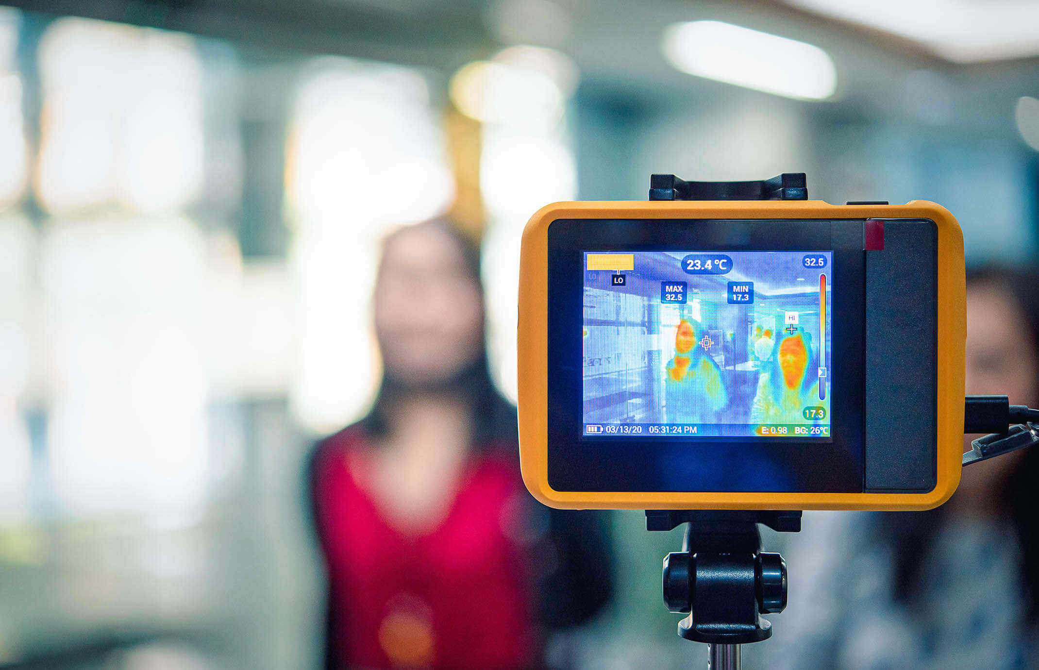 contactless thermographic screening