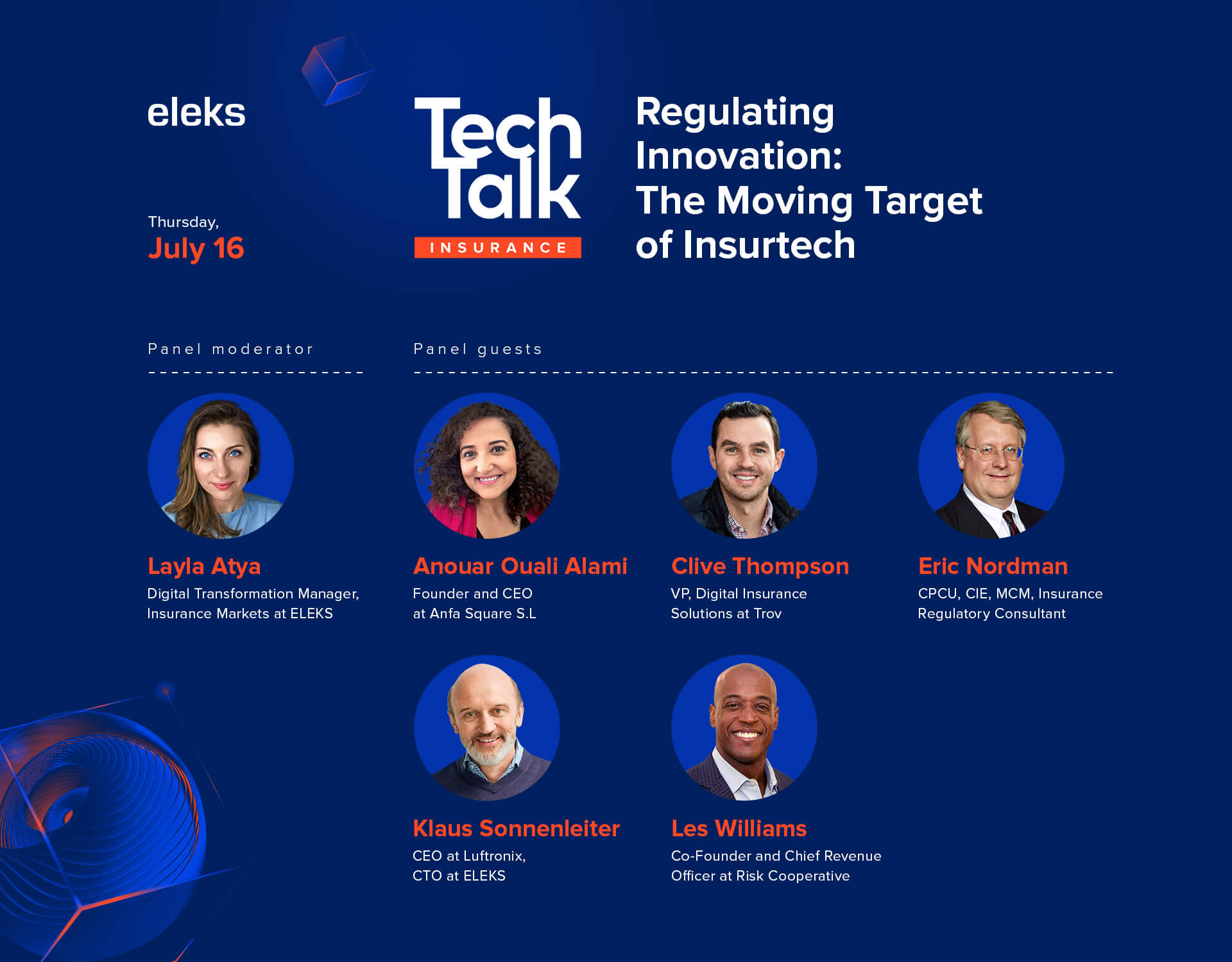 tech talk insurance speakers
